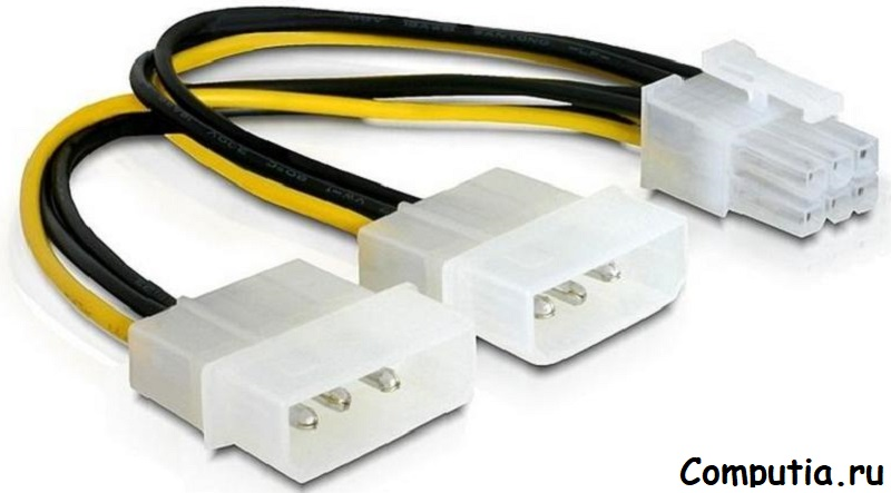 Переходник molex - 6 pin блок питания компьютера