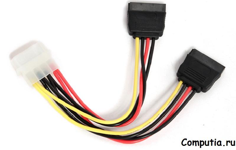 Переходник molex - Sata блок питания компьютера