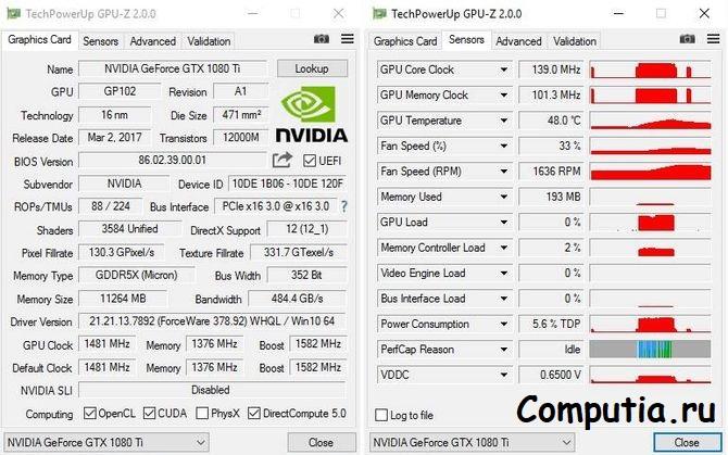GPU-Z тест видеокарты
